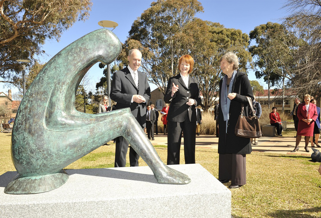 Alan Pettigrew Julia Gillard and Patricia Lawrence
