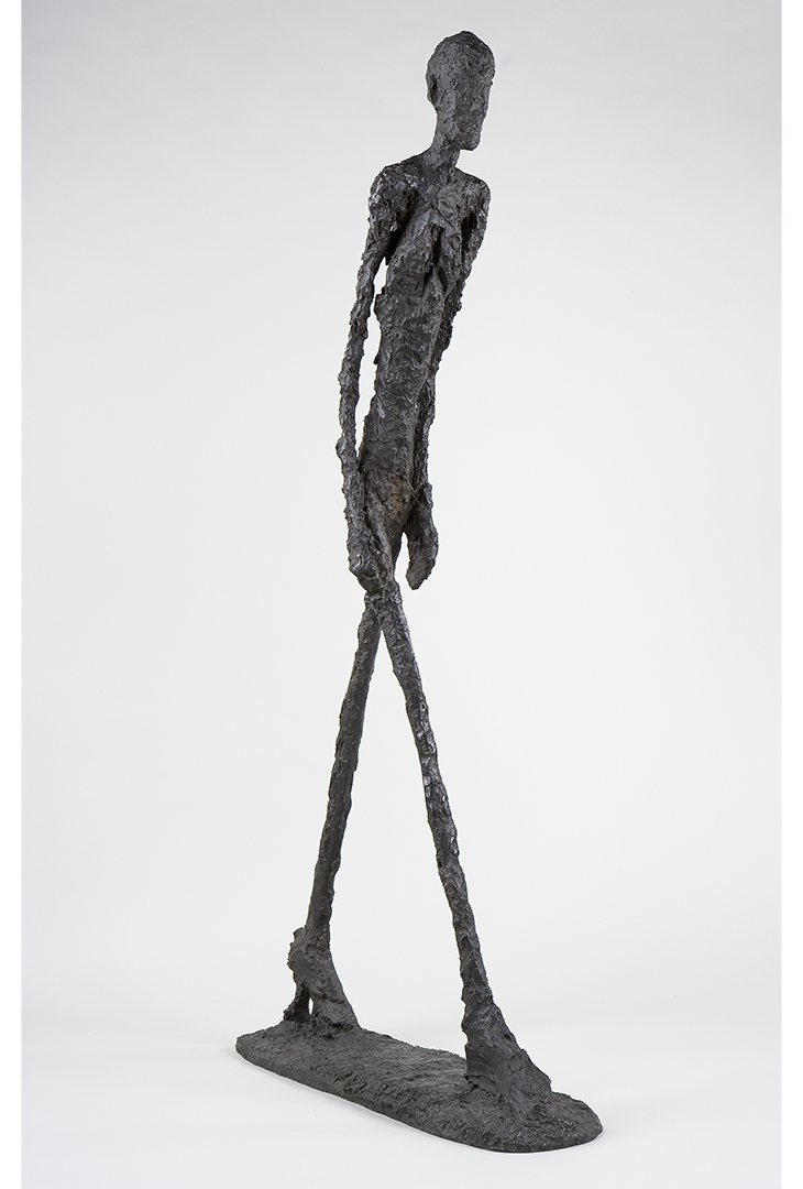 Alberto Giacometti, Walking Man I (Homme qui marche I), 1960, Bronze, 180.5 x 27 x 97 cm, Fondation Giacometti, Paris, © 2018 Alberto Giacometti Estate/Licensed by VAGA and ARS, New York