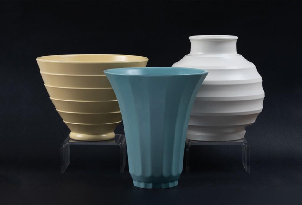 Alan Landis Antiques Wedgwood Keith Murray Design vases, circa 1930