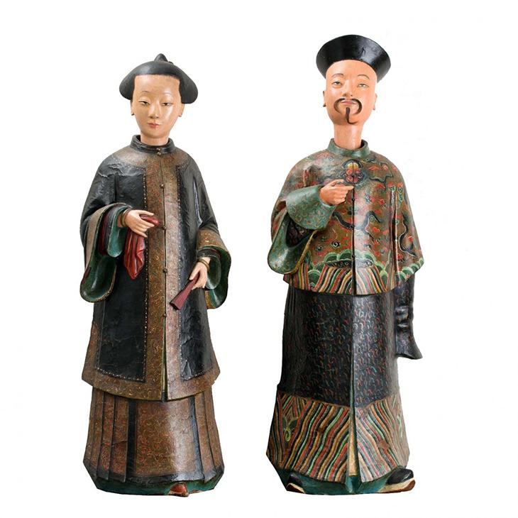 Pair Chinoiserie Figures MCA