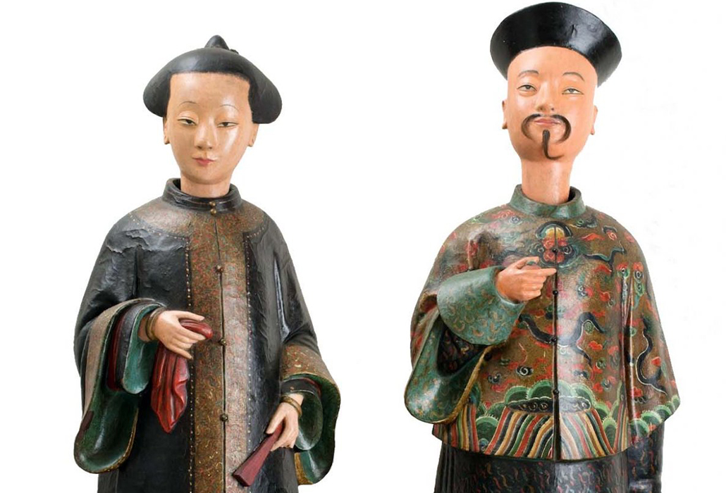 Detail Chinoiserie figures