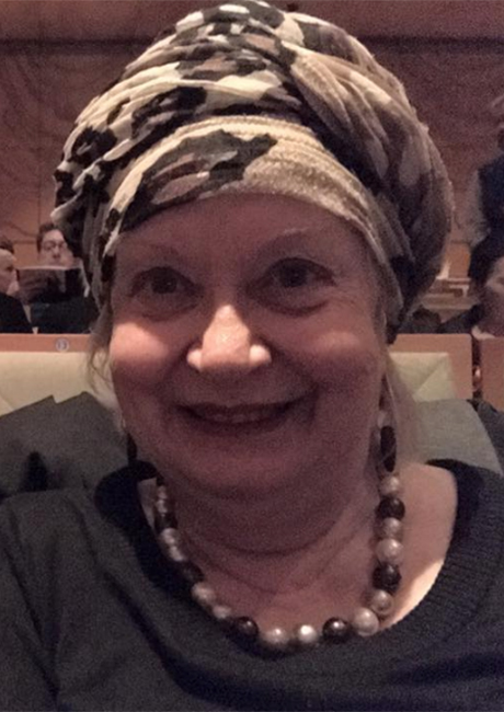 Carolyn wearing Turban