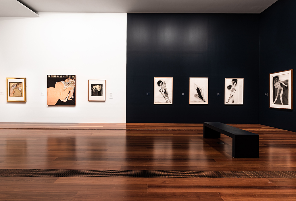 Installation view of Baldessin/Whiteley: Parallel Visions, on display at NGV Australia from 31 August 2018 – 28 January 2019 © The Estate of George Baldessin © Wendy Whiteley Photo: Amelia Stanwix