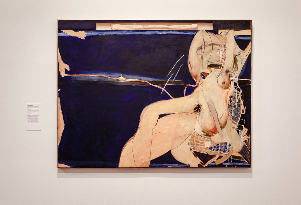Brett Whiteley: Christie and Hectorina McLennan 1964?65 oil, wax, charcoal with collage of cloth and painted wood, object wrapped in cloth and transparent synthetic polymer resin on canvas 162.9 x 214.0 cm National Gallery of Australia, Canberra Purchased 1973 (NGA 75.25) © Wendy Whiteley