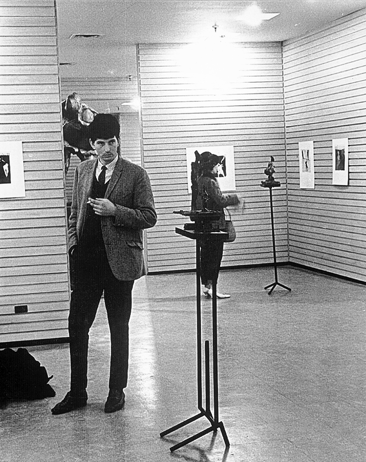 George Baldessin at Argus Gallery, Melbourne 1964 Photo: Unknown