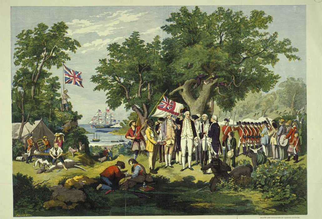 Captain Cook taking possession of the Australian Continent on Behalf of the British Crown AD 1770