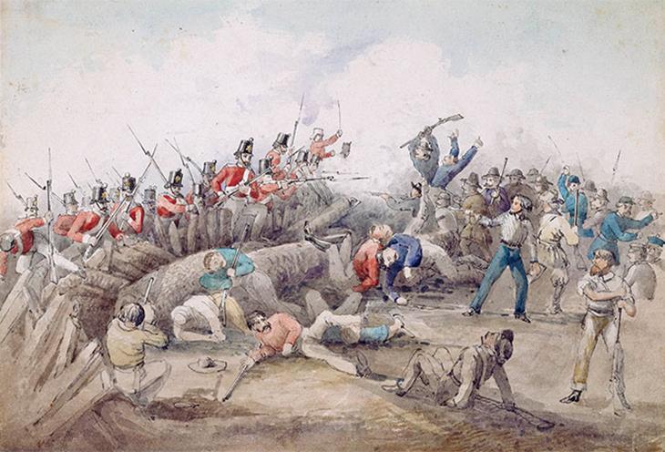 Eureka Stockade Riot. J. B. Henderson (1854)