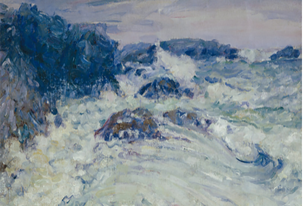 Detail: John Russell, Rough Sea, Morestil c1900, courtesy Art Gallery of NSW