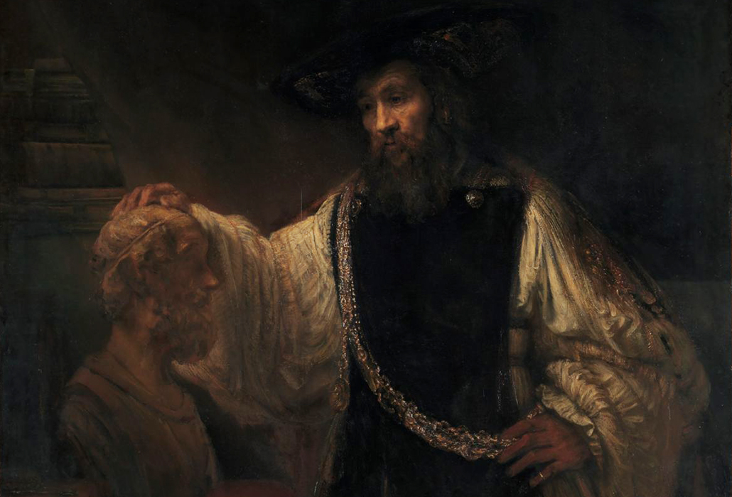 Rembrandt (Rembrandt van Rijn) (Dutch, Leiden 1606–1669 Amsterdam) Aristotle with a Bust of Homer, 1653 Oil on canvas; 56 1/2 x 53 3/4 in. (143.5 x 136.5 cm) The Metropolitan Museum of Art, New York, Purchase, special contributions and funds given or bequeathed by friends of the Museum, 1961