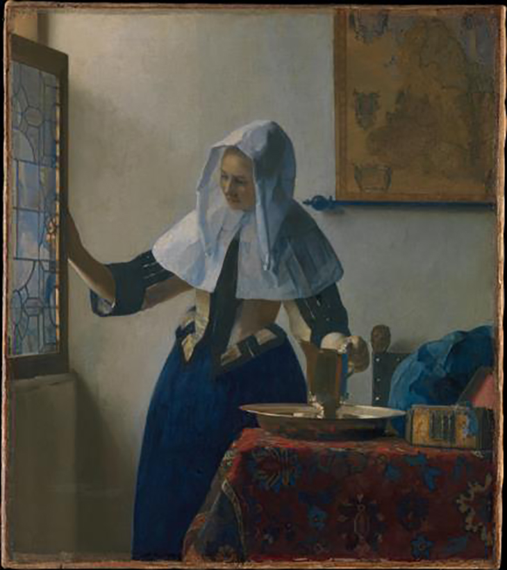 Young Woman with Water Pitcher Vermeer