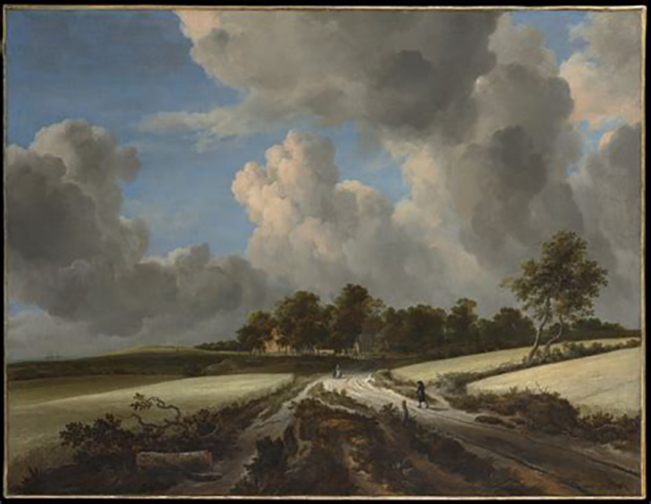 Jacob van Ruisdael (Dutch, Haarlem 1628/29–1682 Amsterdam), Wheat Fields, ca. 1670, Oil on canvas, 39 3/8 x 51 1/4 in. (100 x 130.2 cm), courtesy The Metropolitan Museum of Art, New York, Bequest of Benjamin Altman, 1913 (14.40.623)