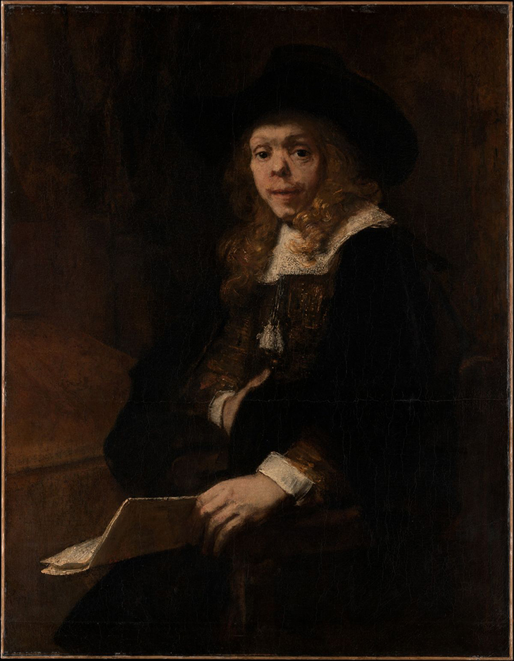 Rembrandt (Rembrandt van Rijn) (Dutch, Leiden 1606–1669 Amsterdam), Portrait of Gerard de Lairesse, 1665-7, Po; pm camvas, 44 3/8 x 34 12/in, Robert Lehman Collection 1975, courtesy Metropolitan Museum of Art, New York