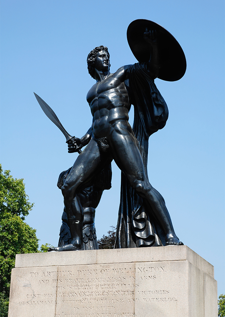 Statue of Achilles by Sir Richard Westmacott in Hyde Park London UK