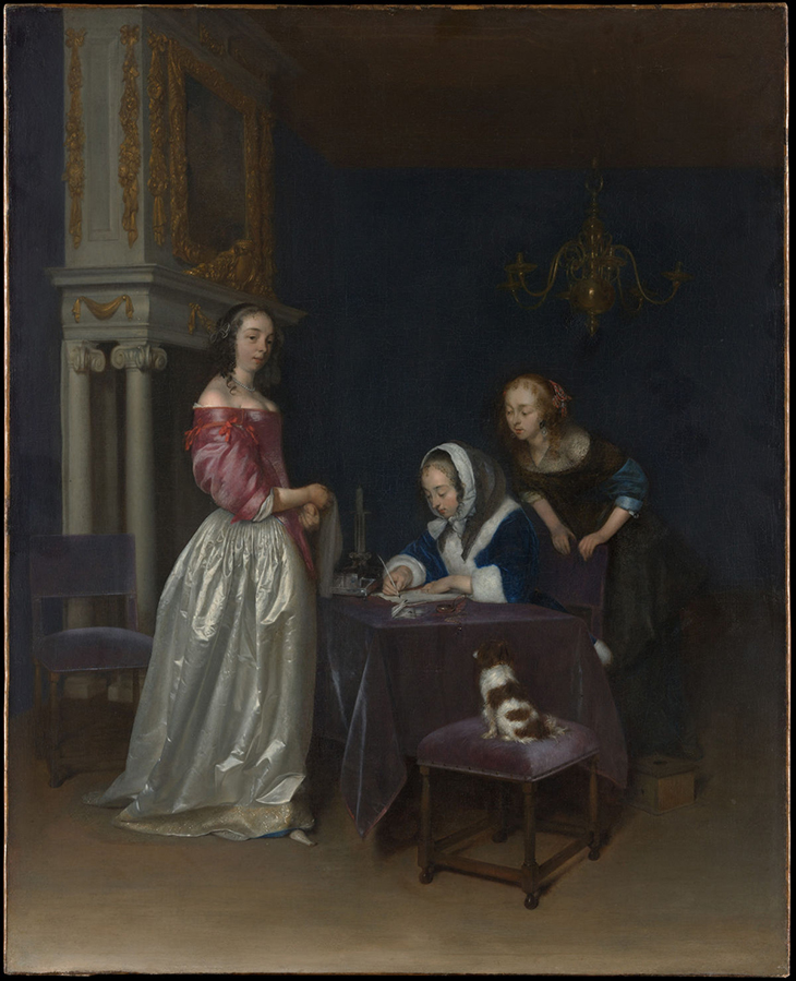 Gerard ter Borch the Younger (Dutch, Zwolle 1617–1681 Deventer), ca. 1660–62, Oil on canvas, 30 x 24 1/2 in, The Jules Bache Collection 1949, courtesy The Metropolitan Museum of Art, New York