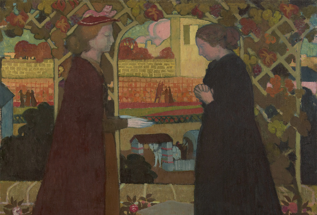 Maurice Denis, 'The visitation' 1894, oil on canvas, 103 x 93 cm The State Hermitage Museum, St Petersburg, Photo: © The State Hermitage Museum 2018, Vladimir Terebenin, Leonard Kheifets and Yuri Mololkovets