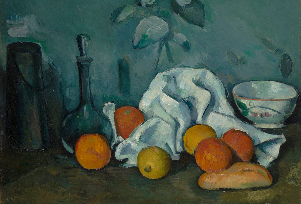 Paul Cézanne 'Fruit' 1879/80 oil on canvas, 46.2 x 55.3 cm, The State Hermitage Museum, St Petersburg photo: © The State Hermitage Museum 2018, Pavel Demidov and Konstantin Sinyavsky