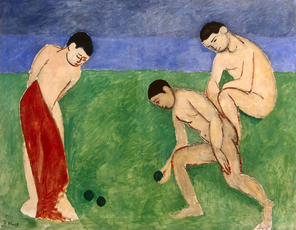 Henri Matisse 'Game of bowls' 1908 oil on canvas, 115 x 147 cm The State Hermitage Museum, St Petersburg © Succession H Matisse/Copyright Agency, 2018 Photo: © The State Hermitage Museum, St Petersburg 2018, Vladimir Terebenin