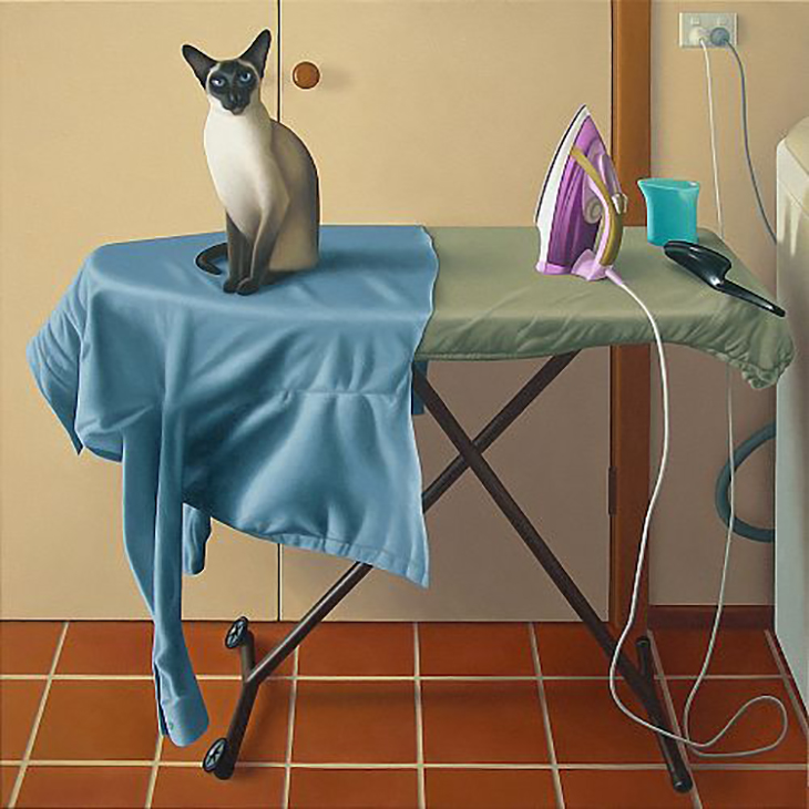 Guy Gilmour, Ironing board (after Fuseli) 101×101cm oil on polyester, courtesy Robin Gibson Gallery, Sydney