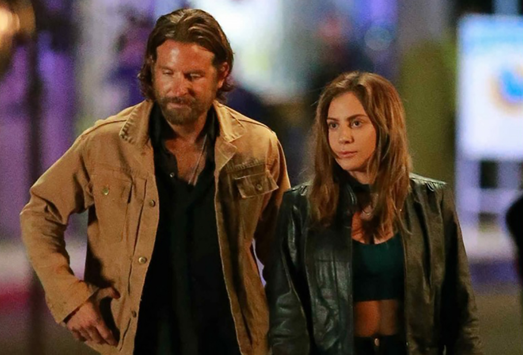 Bradley Cooper as Jackson Maine with Lady Gaga as Ally in, A Star is Born, courtesy Warner Bros Pictures