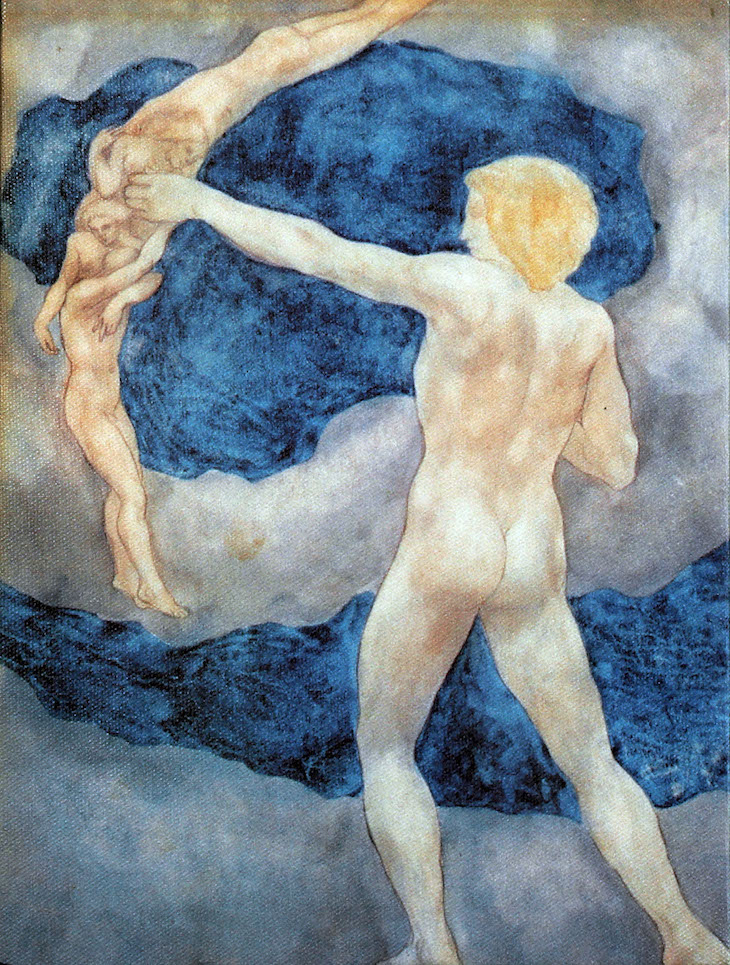 "Kahlil Gibran, The Archer (1923), Illustration for The Prophet, Watercolour courtesy and © Gibran Museum, Signed lower left: ""K.G."" Created in New York Acquired by the Gibran National Committee in 1933 upon Gibran's will from March 13, 1930 (New York)"
