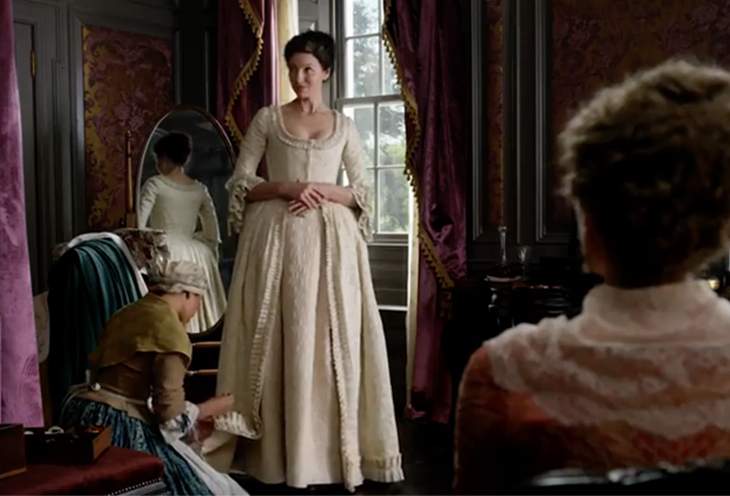 Claire Fraser (Caitriona Balfe) in the Starz television series Outlander.
