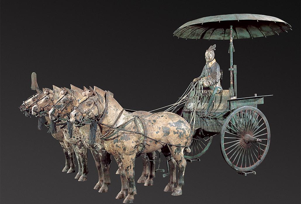 Chariot #1 (Qin dynasty replica) bronze 152.0 (h) x 225.0 (w) cm Emperor Qin Shihuang's Mausoleum Site Museum, Xi'an (MMYL007)