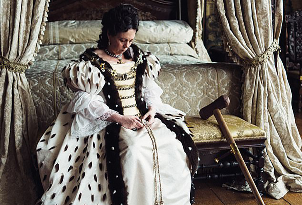 Olivia Coleman as Queen Anne, in The Favourite