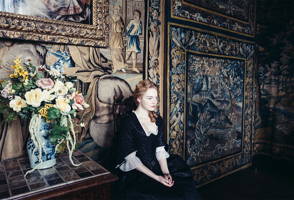 Emma Stone in The Favourite, Photo by Yorgos Lanthimos. © 2018 Twentieth Century Fox Film Corporation All Rights Reserved