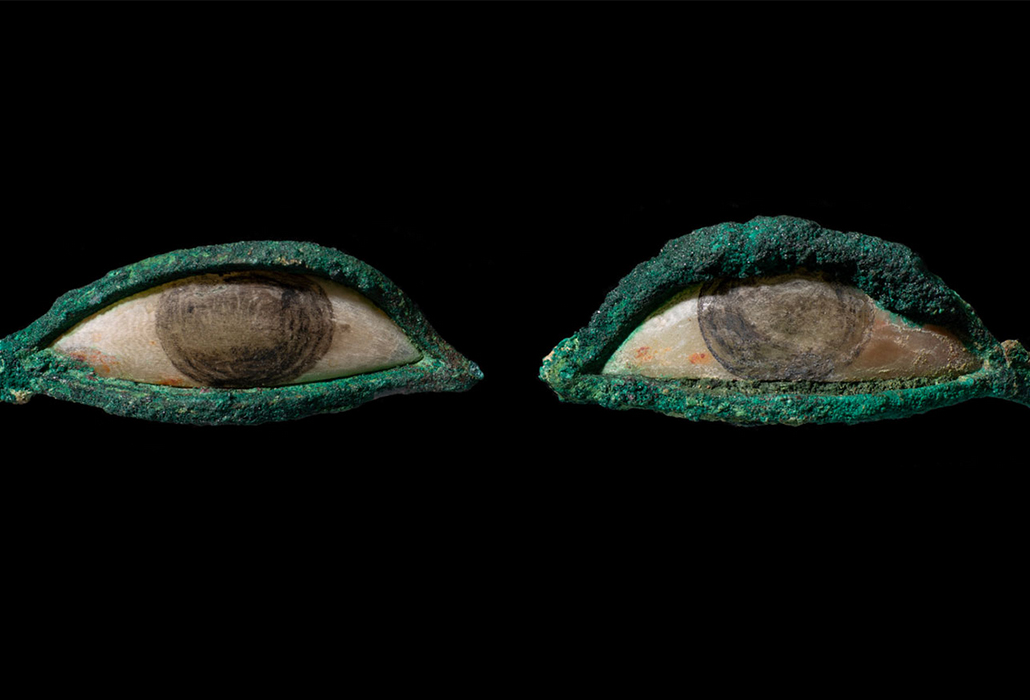 Eye inlays, Egyptian, 664 - 332 BCE, Charles Ede, London