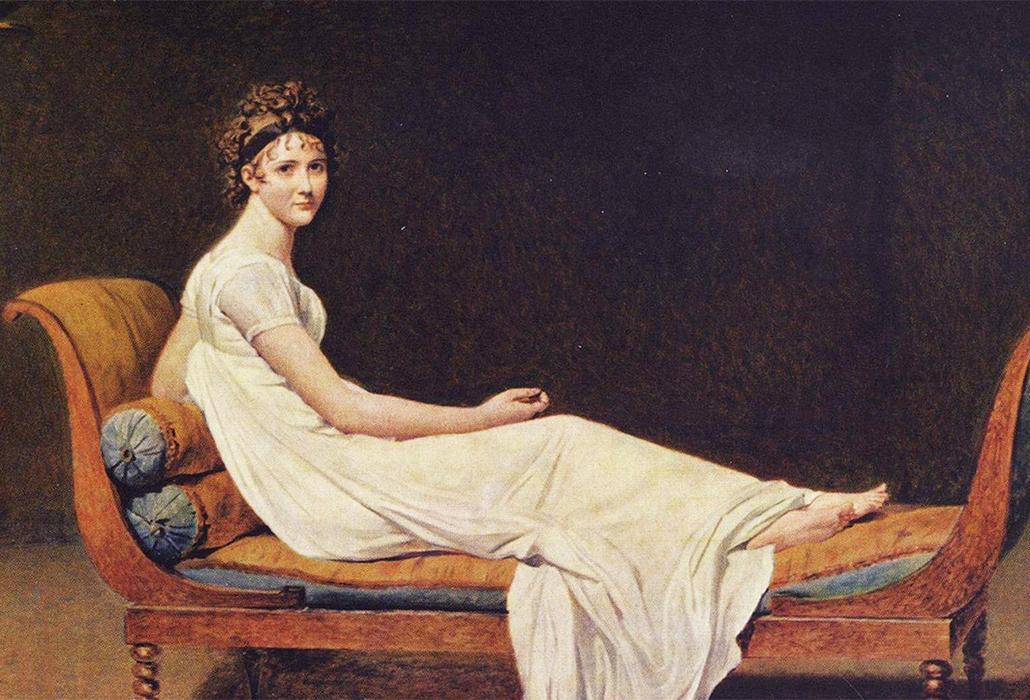Juliette Recamier by Jacques-Louis David