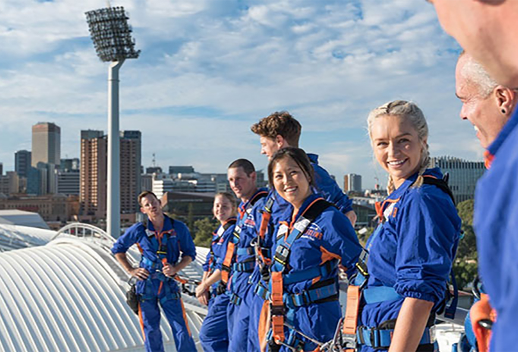 Roof climb Adelaide Oval, courtesy of SA tourism