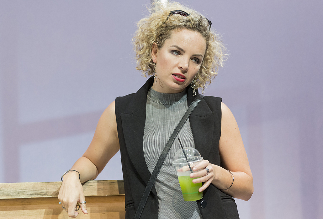 Claudia Barrie as Vicki Fielding in The Big Time, Ensemble Theatre Sydney, photo by Brett Boardman