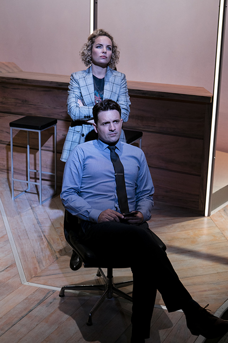 Claudia Barrie and Matt Minto in David Williamson: The Big Time - Ensemble Theatre, Sydney, photo Brett Boardman