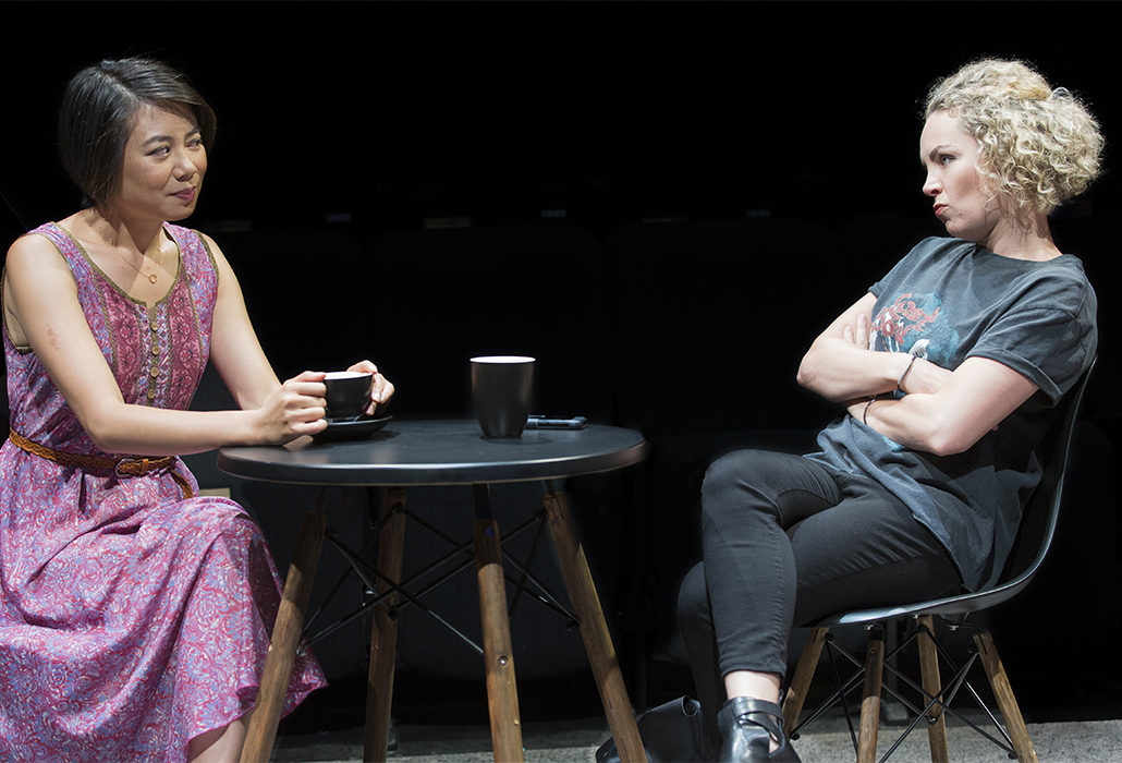 Aileen Huynh and Claudia Barrie in The Big Time, Ensemble Theatre Sydney, photo by Brett Boardman
