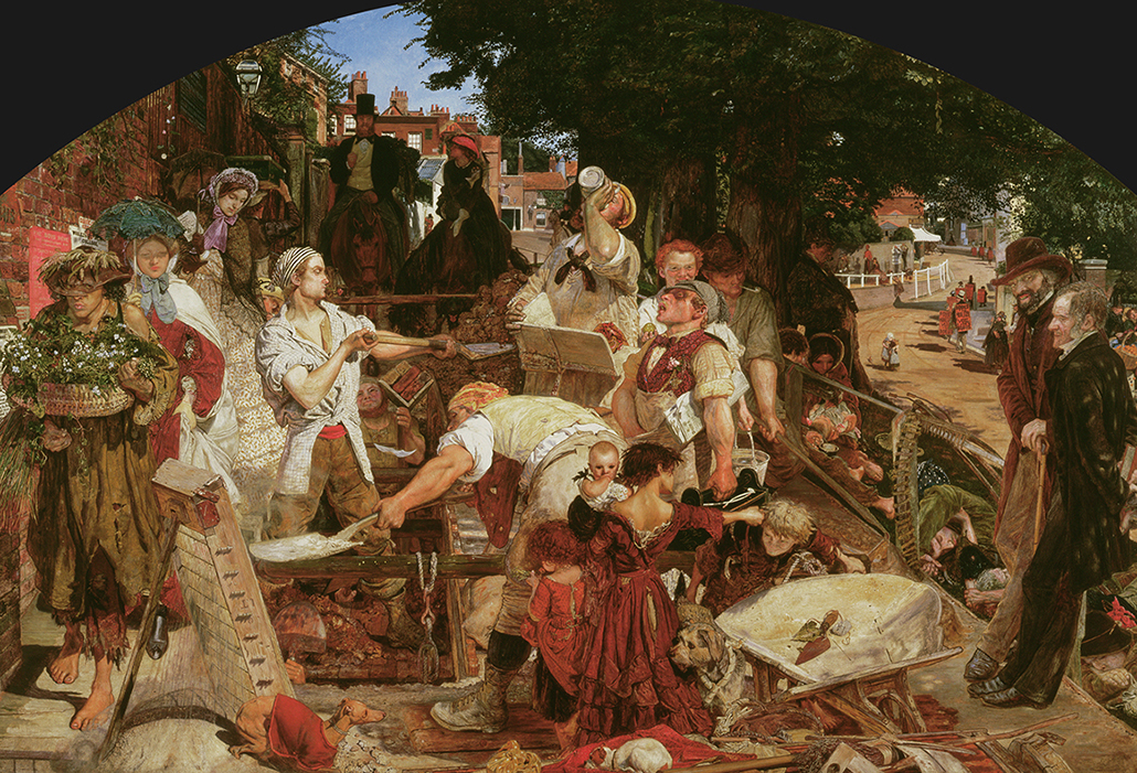 Ford Madox Brown: Work, 1852–65, oil on canvas 137 x 197.3 cm, Purchased 1885 Manchester Art Gallery