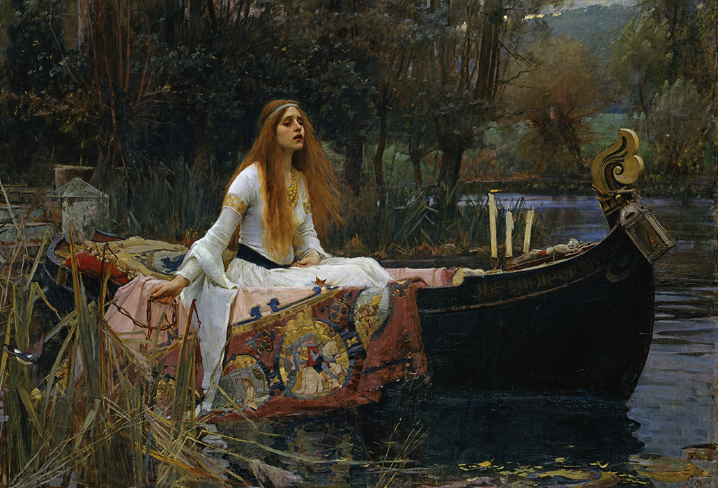 John William Waterhouse: The Lady of Shalott, 1888 oil on canvas 153 x 200 cm  Presented by Sir Henry Tate 1894  Tate, © Tate, London 2018