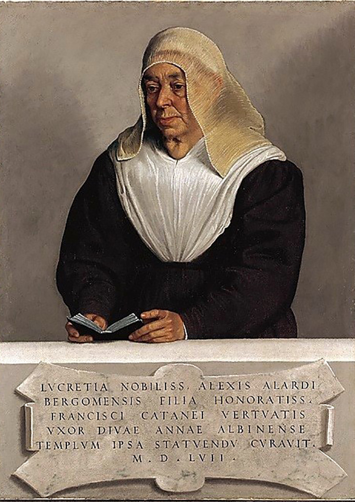 Giovanni Battista Moroni, Lucrezia Agliardi Vertova, dated 1557, Oil on canvas 36 x 27 inches, The Metropolitan Museum of Art, New York; Theodore M. Davis Collection, Bequest of Theodore M. Davis, 1915 Photo: The Metropolitan Museum of Art, New York