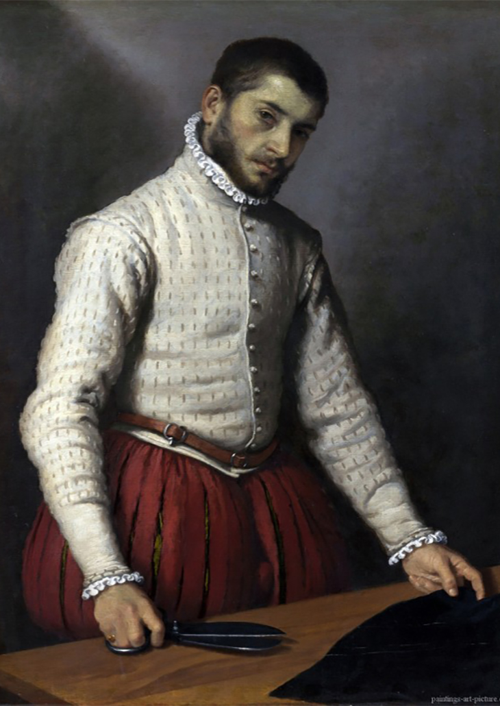 Giovanni Battista Moroni, The Tailor (Il Sarto, or Il Tagliapanni), ca. 1570 Oil on canvas 39 1/8 x 30 1/4 inches The National Gallery, London Photo: © The National Gallery, London