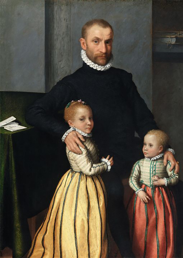 Giovanni Battista Moroni Portrait of a Gentleman and His Two Children, ca.1572-1575 Oil on canvas 49 3/8 x 38 5/8 inches, National Gallery of Ireland Collection, Dublin; Purchased, 1866 Photo: © National Gallery of Ireland