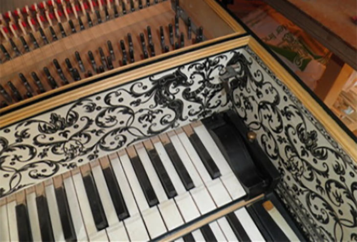 Harpsichord Painting
