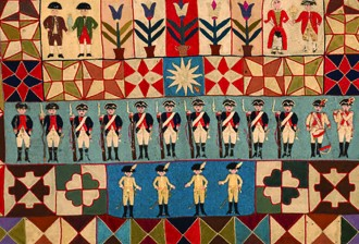 Intarsia Quilt Military detail