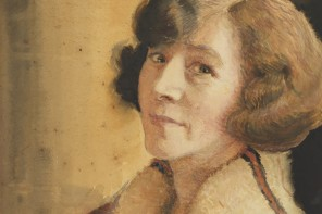 Souriante [self portrait, smiling], 1923? / drawn by May Gibbs, State Library of NSW