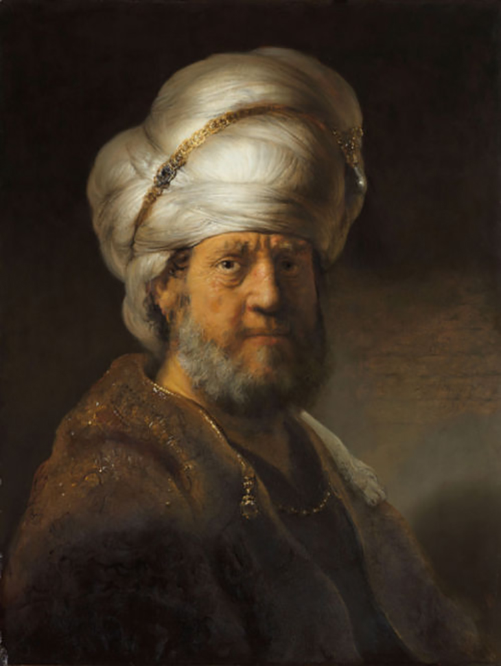 Rembrandt van Rijn, Man in Oriental Dress, 1635. Gift of Mr and Mrs Kessler Hülsmann, Kapelle op den Bosch, © Courtesy of the Rijksmuseum Amsterdam