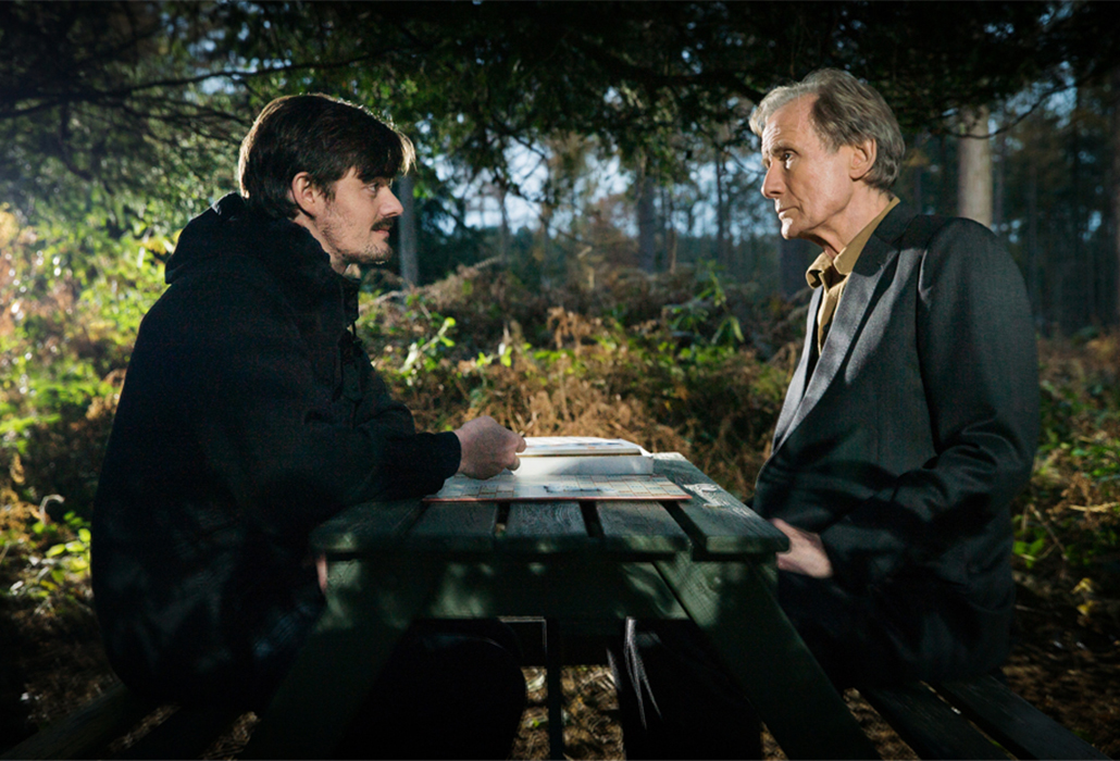 British actors Bill Nighy and Sam Reilly  in Sometimes Always Never, courtesy Transmission Films