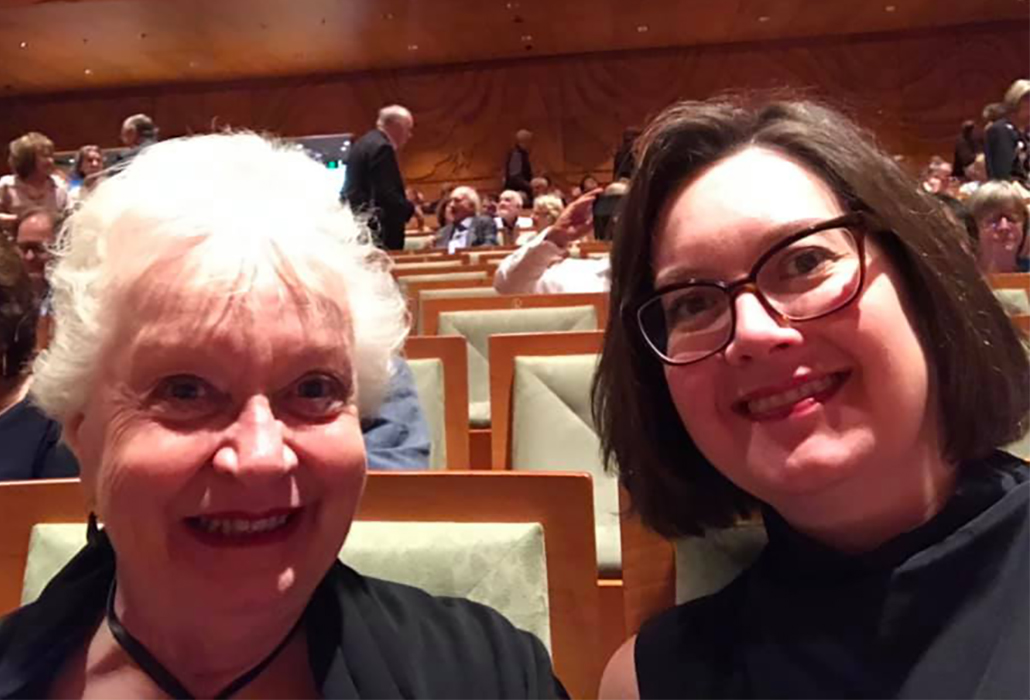 Carolyn McDowall and Belinda McDowall at the 30th Celebration for the Australian Brandenburg Orchestra March 9, 2019 photo Belinda McDowall