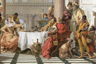 Giambattista TIEPOLO detail; The Banquet of Cleopatra (1743-1744)  oil on canvas 250.3 x 357.0 cm National Gallery of Victoria, Melbourne, Felton Bequest, 1933