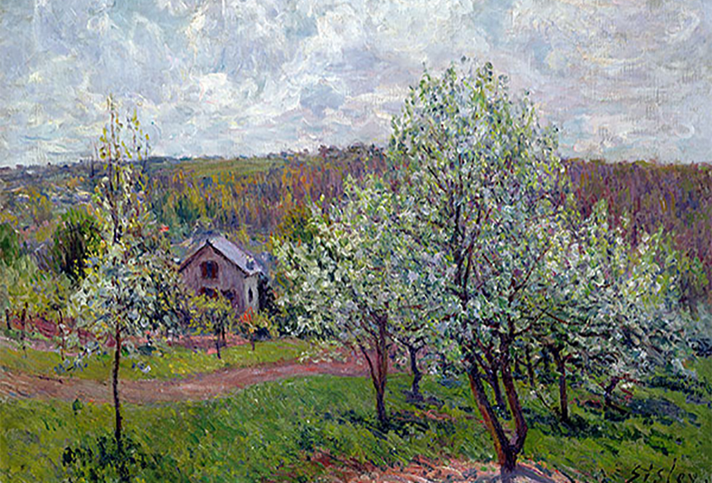 Alfred Sisley, Spring in the Environs of Paris, Apple Blossom, 1879 Musée Marmottan Monet, Paris, France