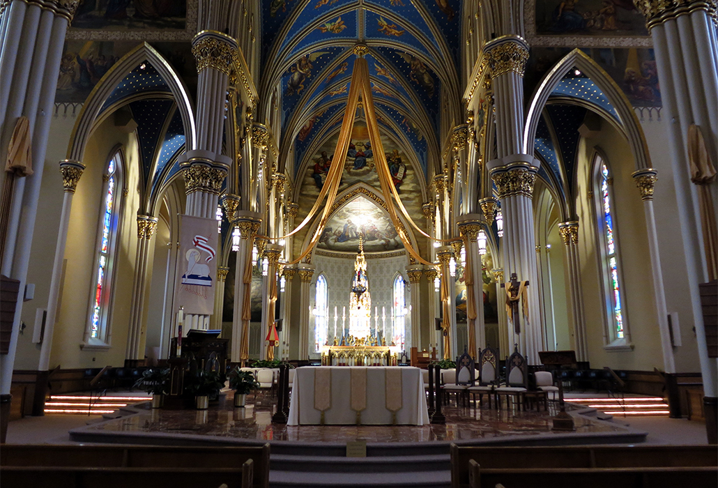 Basilica of the Sacred Heart (Notre Dame, Indiana) - interior, chancel