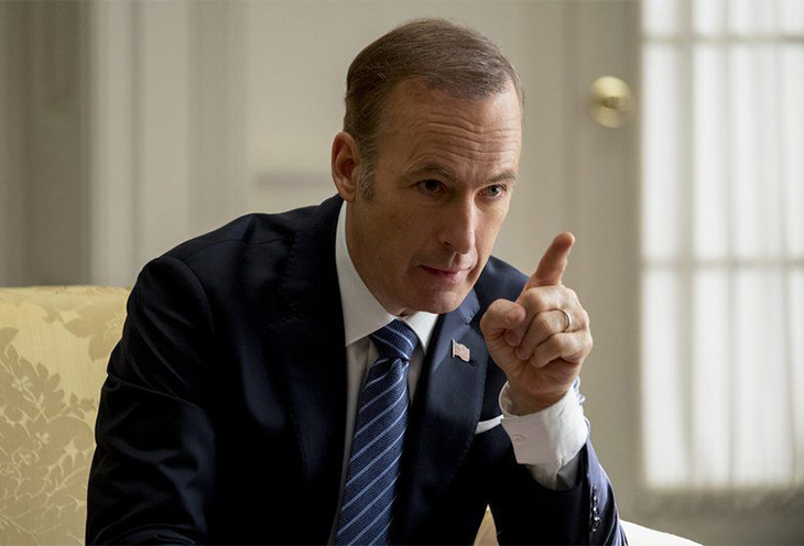 Bob Odenkirk plays the president of the Uninted States in Long Shot, Philippe Bosse-Lionsgate via AP