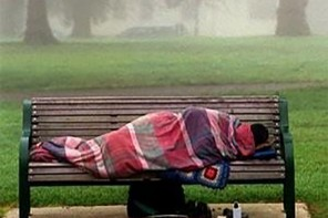 Homeless on Bench